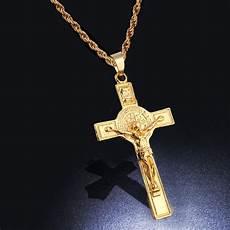 Kreuz Kette - chain for jesus trendy gold color inri crucifix