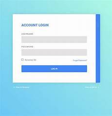 login and register form interaction coding fribly