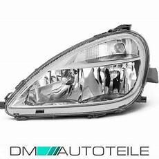 mercedes a class w168 headlight left clear glass h7 h4