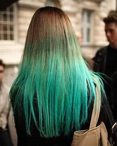 Blue Dip Dye Hair hair trend dip dye ottawa west fashion