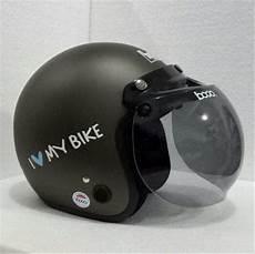 jual helm bogo retro vespa classic fino abu abu grey dop dof sni di lapak wahana store gemilang011