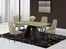Kitchen Table Sets Michigan modern khaki dining table with black base and khaki chairs
