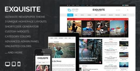 exquisite v1 3 3 themeforest ultimate newspaper theme