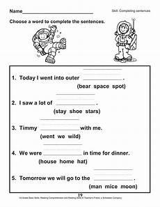 comprehension worksheets 15452 40 scholastic 1st grade reading comprehension skills worksheets worksheet