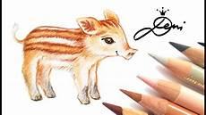 frischling zeichnen wildschweinchen tutorial zeichnung