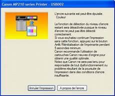 niveau d encre imprimante desactiver la detection du niveau encre