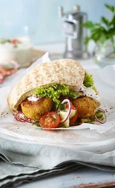 Arabische Küche Rezepte Kostenlos by Falafel In Vollkorn Pita Rezept Gesund Essen