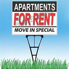 Apartment Rent Specials by 18 Quot X24 Quot Apartments For Rent Outdoor Yard Sign Stake Lawn