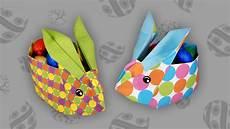 Origami Osterhasenkorb Easter Bunny Box Faltanleitung