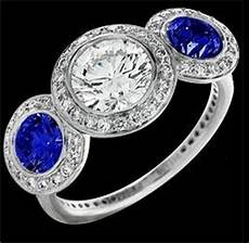 amazon com ritani endless love three stone blue sapphire engagement ring other products