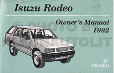 book repair manual 1992 isuzu rodeo on board diagnostic system 1992 isuzu rodeo owners manual original oem owner user guide book ebay