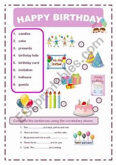 happy birthday worksheets esl 20219 happy birthday worksheet ingles basico para ni 241 os educacion ingl 233 s basico