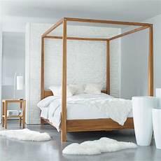 letto baldacchino maison du monde letto a baldacchino 160 x 200 in acacia amsterdam