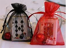 party wedding favour bags red black casino by