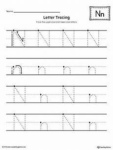 letter tracing worksheets n 23918 letter n tracing printable worksheet myteachingstation