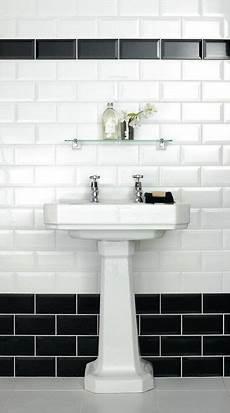 Black And White Bathroom Tile Ideas Metro Bevelled Edge Tile Black 150mmx75mm Metro