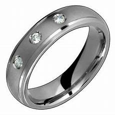 mens titanium ring with diamond engagement wedding band for him n ebay