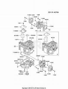 Kawasaki Fh500v As04 4 Stroke Engine Fh500v Parts Diagram