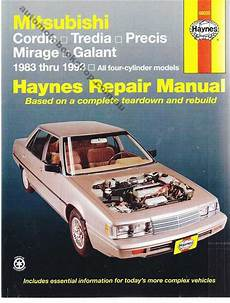 online car repair manuals free 1986 mitsubishi tredia seat position control mitsubishi cordia tredia precis mirage galant 1983 1993 workshop manual