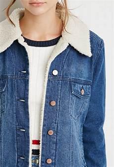 veste en jean mouton femme veste en jean et fausse peau de mouton vestes manteaux