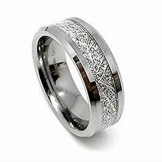 tungsten carbide 8mm meteorite men s wedding band ring com