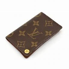 louis vuitton brown porte porte cartes credit pression