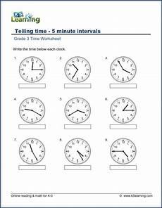 grade 3 telling time worksheet read the clock 5 minute