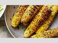 Grilled Corn with Herb Butter Recipe   Bon Appetit