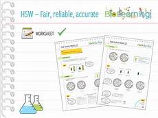 how science works hsw worksheet 2 fair test reliable accurate ks3 ks4 by