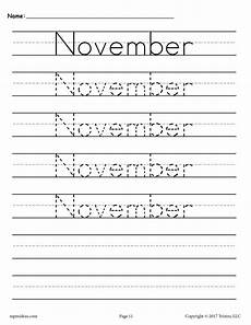 handwriting worksheets free to print 21666 12 free handwriting worksheets months of the year supplyme