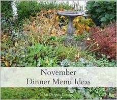 Cottage Dinner Menu by November Dinner Menu Ideas