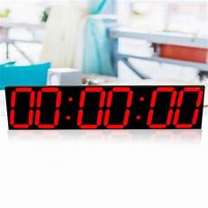 Remote Oversize Wall Clock Screen by 6 Digit Remote Oversize Led Wall Clock 3d Big Screen