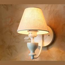 rustic wall sconces fabric white decorative lighting wrought iron