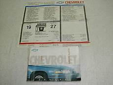 car repair manuals online pdf 1992 chevrolet lumina apv spare parts catalogs 1992 chevy lumina owners manual with window sticker rare ebay