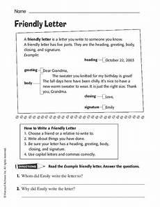 friendly letter worksheet for kindergarten 2nd grade lesson planet