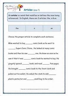 punctuation worksheets for grade 3 with answers 20769 grade 3 grammar topic 34 articles worksheets lets knowledge moon light
