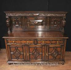 Kitchen Server Furniture Antique Oak Jacobean Sideboard Server Buffet Kitchen
