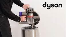 dyson v8 cord free vacuums emptying the bin ca