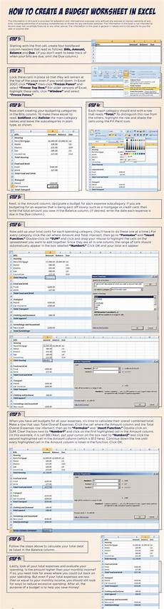 how to create a budget worksheet in excel