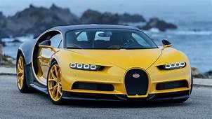 2018 Bugatti Chiron Yellow And Black 4K 2 Wallpaper  HD