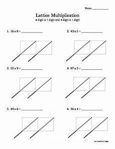 lattice multiplication worksheet or math notebook entry by bethany bratlie