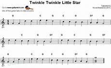 how to play guitar songs for beginners twinkle twinkle easy guitar tab guitarnick