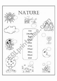 nature worksheet for kindergarten 15159 nature esl worksheet by amygm