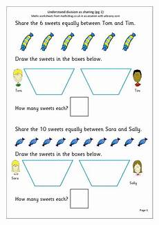 understanding division as sharing worksheet for 2nd 3rd