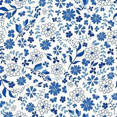 Seamless Pattern From Blue Stock Vector Colourbox