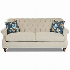 Apartment Size Sofas by Klaussner Burbank K96800 S Traditional Tufted Apartment