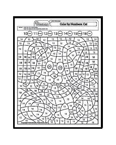 color by number cat coloring pages 18089 color by numbers cat