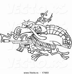 coloring pages 17603 vector of a rambo turkey bird coloring page outline by toonaday 17603