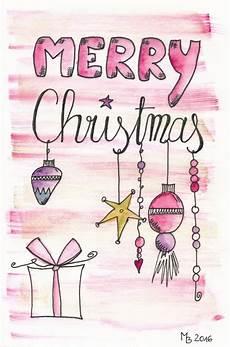 weihnachtskarten selber machen lettering aquarell
