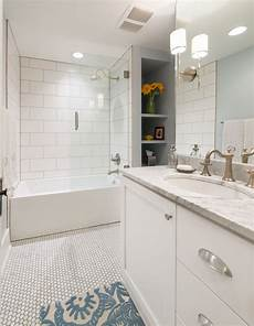 Bathroom Subway Tile Ideas 6 Tips To Remodeling A Busy Bathroom By Highcraft Builders